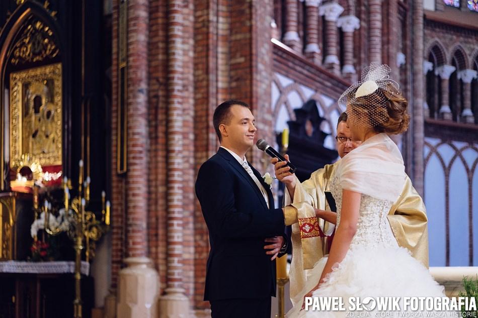 Ceremonia ślubna Siedlce Katedra Zdjęcia Paweł Słowik Fotografia Blog