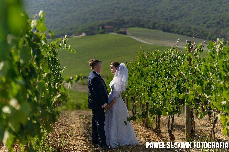 sesja ślubna w winnicy Włochy
