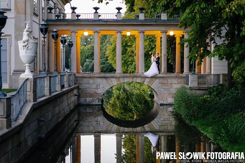 Łazienki Królewskie Warszawa Sesja ślubna