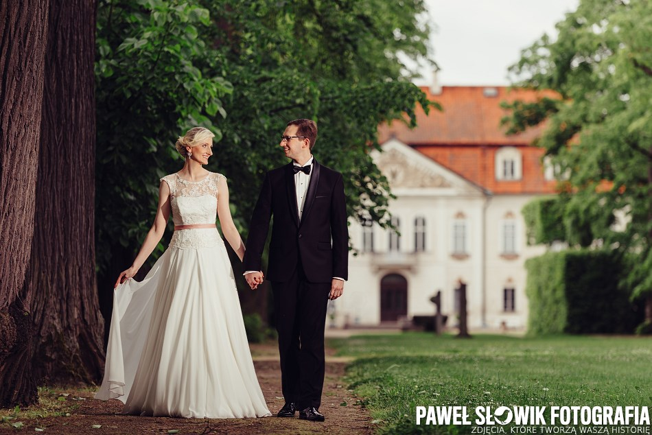 Park Arkadia sesja ślubna