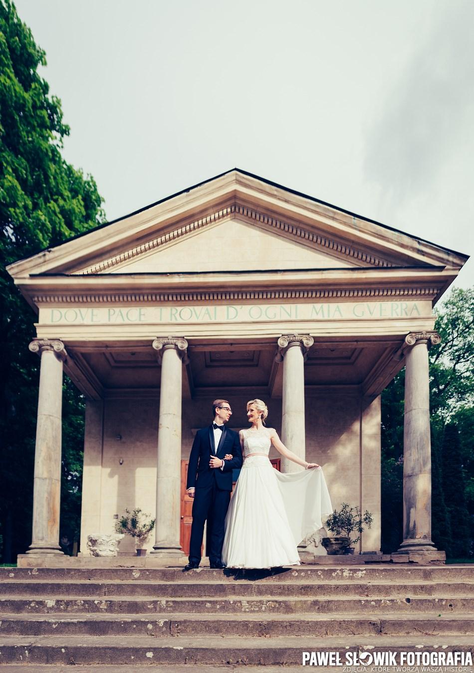 Park Arkadia zdjęcia ślubne