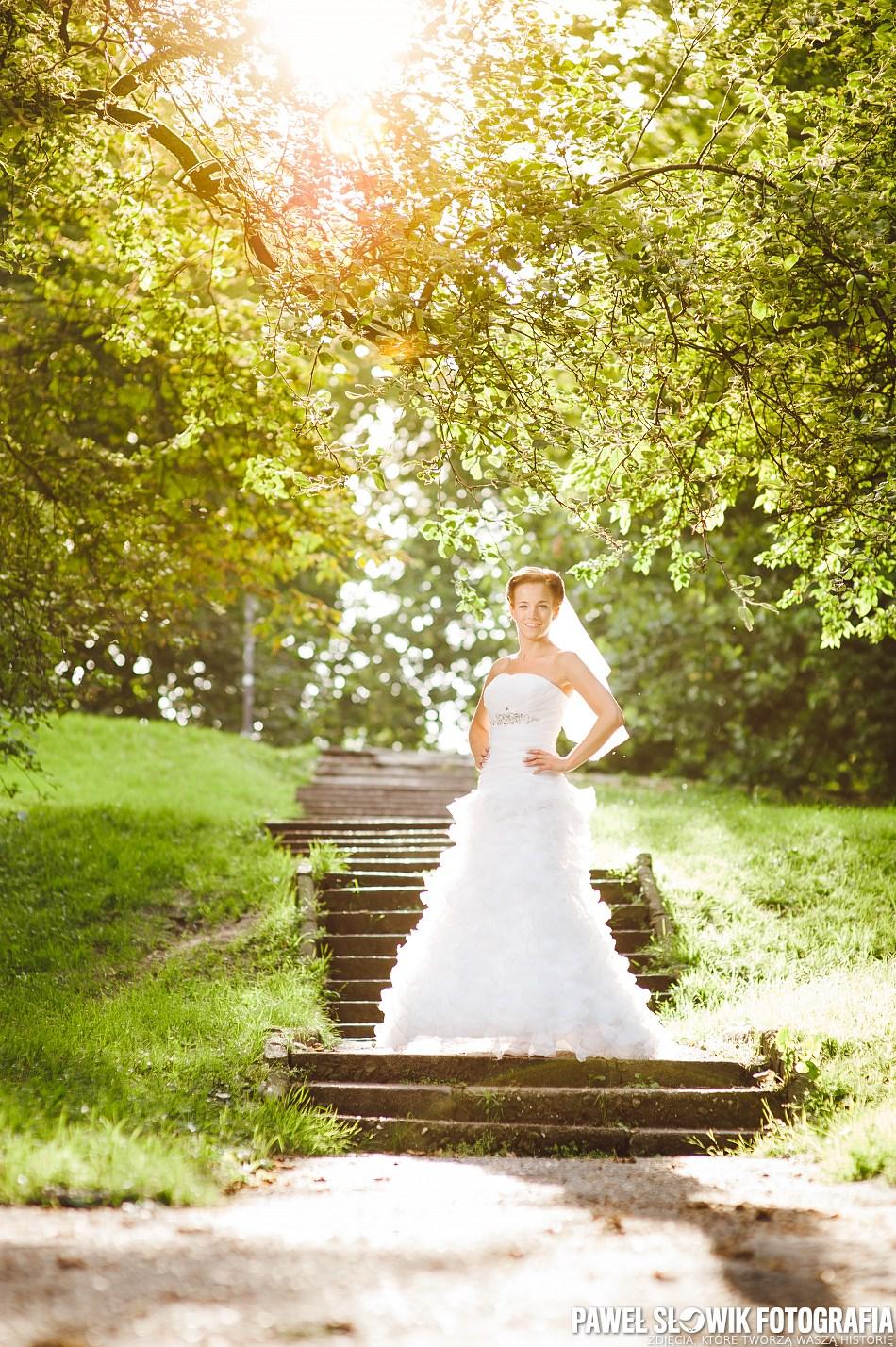 Park Rydza Śmigłego Sesja poślubna