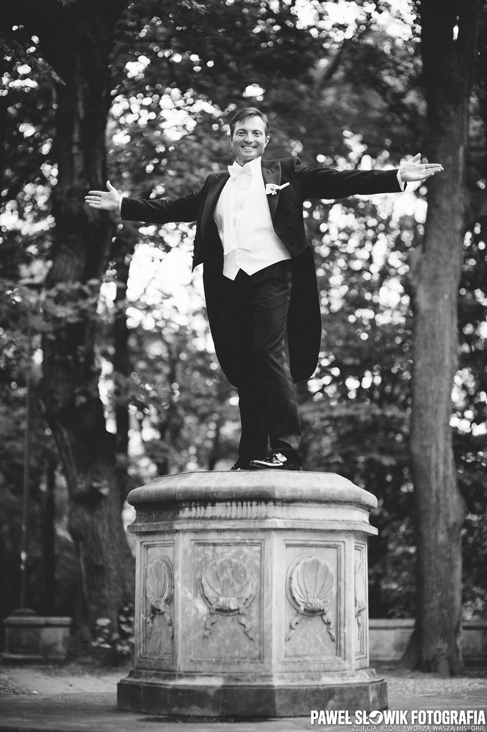 Fotograf ślubny zdjęcia w Parku Rydza Śmigłego