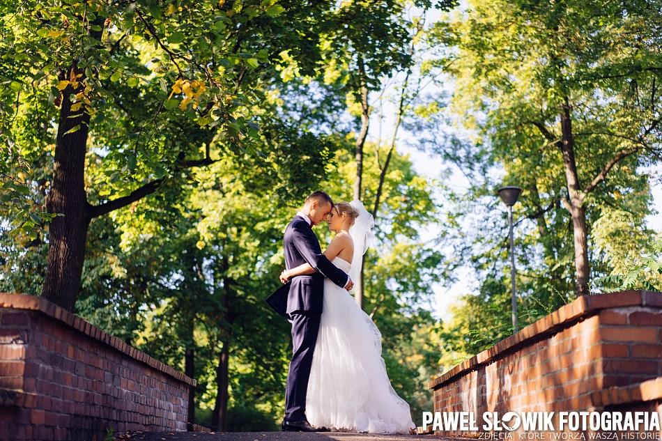 Park Wilanów Sesja ślubna