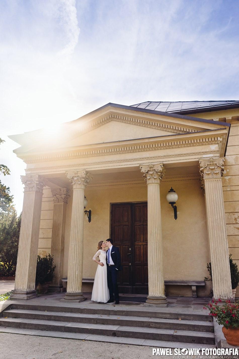 sesja poślubna Wilanów Park