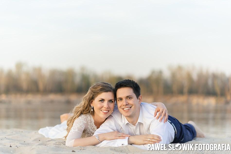 sesja ślubna na plaży, Warszawa