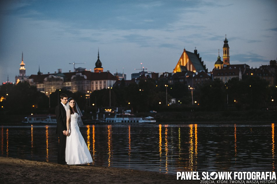 sesja poślubna nad Wisłą fotograf ślubny