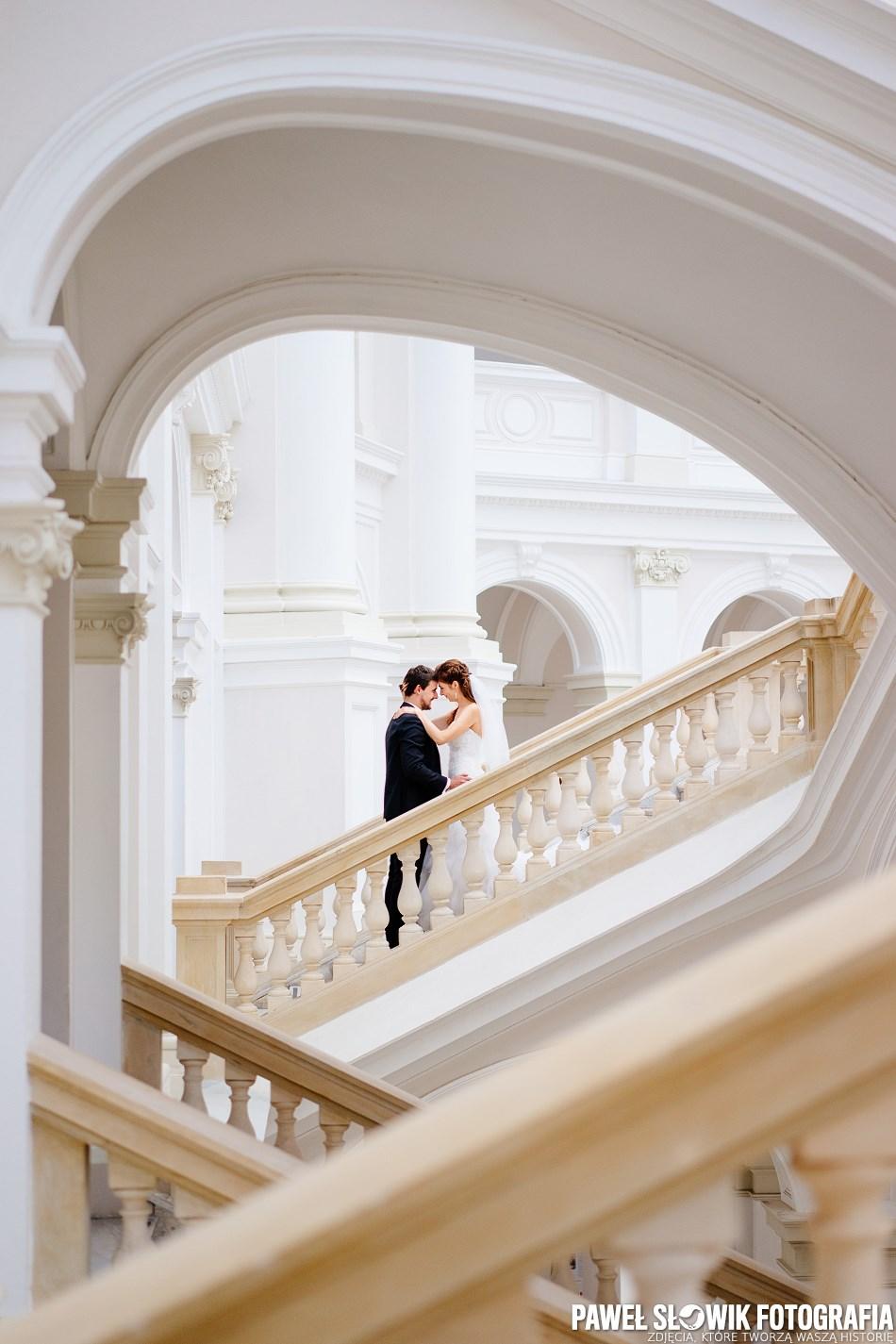 Sesja ślubna na Politechnice Warszawskiej