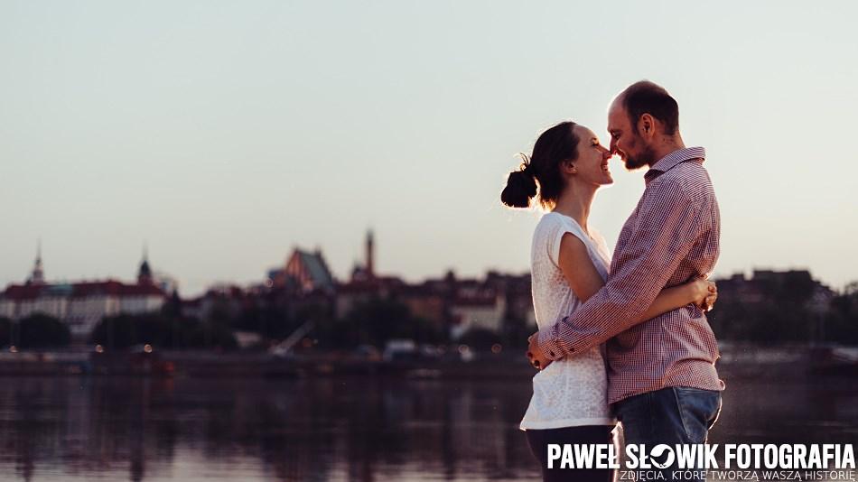 Zdjęcia ślubne nad Wisłą Warszawa