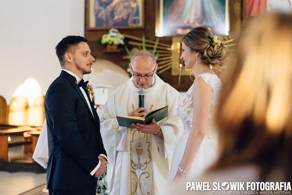 zaślubiny w kościele Gostynin