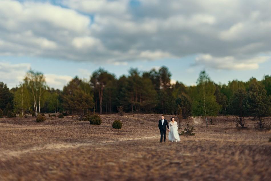 Rustykalna sesja ślubna Boho w lesie